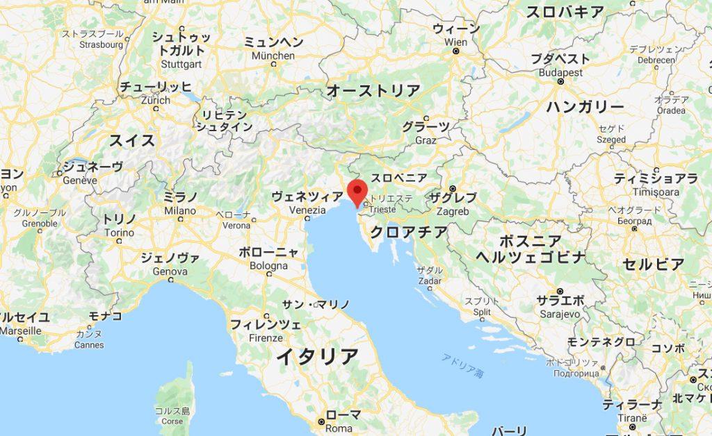 スロヴェニア共和国の位置